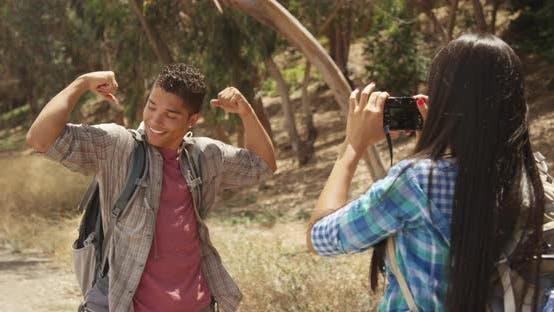 Thumbnail for Cute Hispanic boy posing for camera