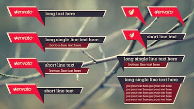 Simple Angle Lower Thirds Pack