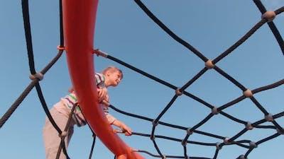 Girl Ropes Climbing