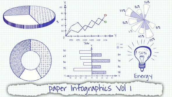 Thumbnail for Paper Infographics Vol 1