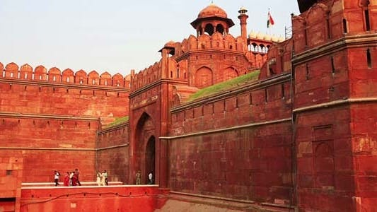 Thumbnail for Majestic Walls Facade Of Red Fort In Old Delhi