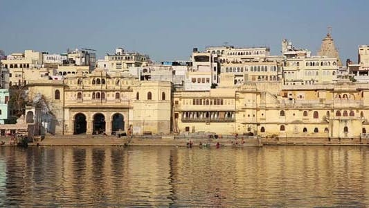 Thumbnail for View Of Udaipur, Rajasthan Rising From Above Water
