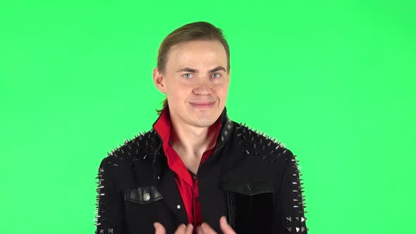 Thumbnail for Guy Negatively Waving His Head Expressing He Is Innocent. Green Screen