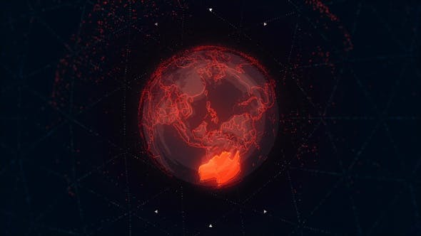Thumbnail for Australia Continent on the Rotating Red Earth 4K