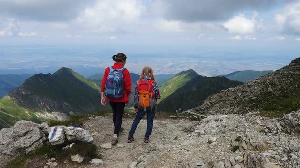 Thumbnail for Children Hiking At The Mountains 3