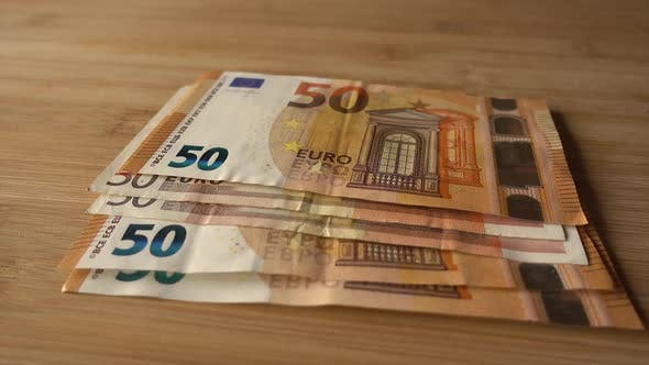 Counting Euro Money