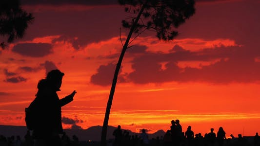 Thumbnail for Sunset and People Silhouette 7