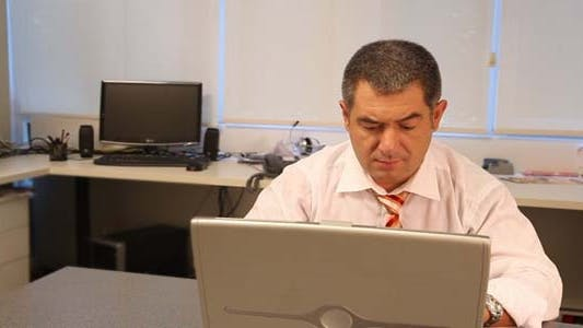 Thumbnail for Successful Businessman Using Laptop In Office