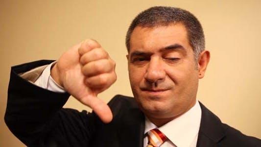 Thumbnail for Businessman, Thumbs Down, Failure, Unsuccessful