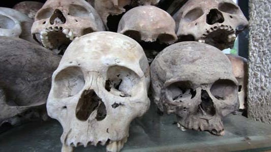 Thumbnail for Skulls And Bones In Killing Field, Cambodia