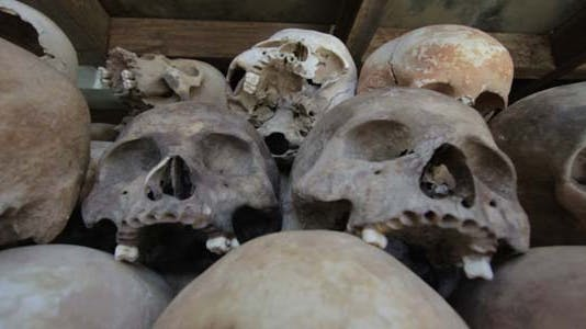Skulls And Bones In Killing Field, Cambodia - product preview 0