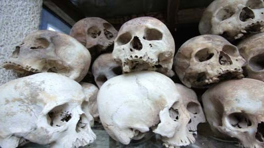 Thumbnail for Skulls And Bones In Killing Field, Cambodia, Movin