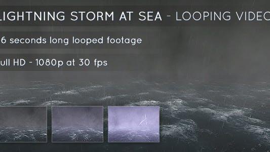 Lightning Storm at Sea