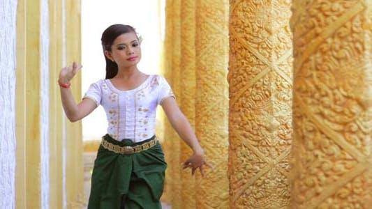 Thumbnail for Beautiful Asian Girl Performs Cambodian Folk Dance