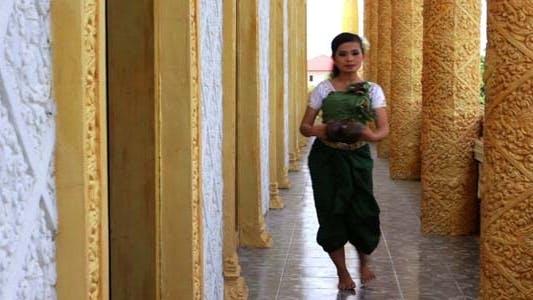 Thumbnail for Beautiful Asian Girl Performs Coconut Folk Dance