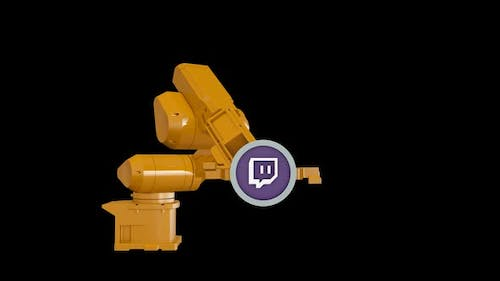 Robotic Arm and Twitch Logo