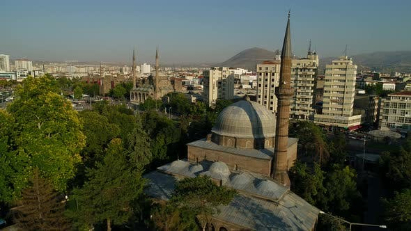 Thumbnail for Aerial View On City Historic Mosques