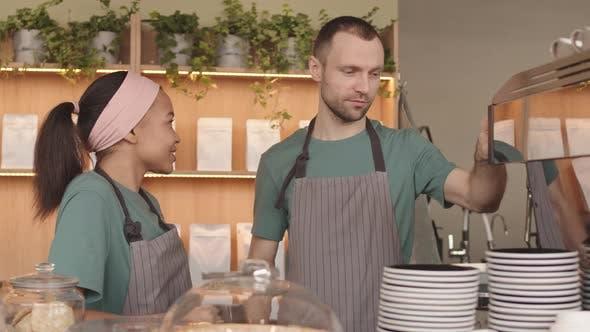 Training Staff in Coffeeshop
