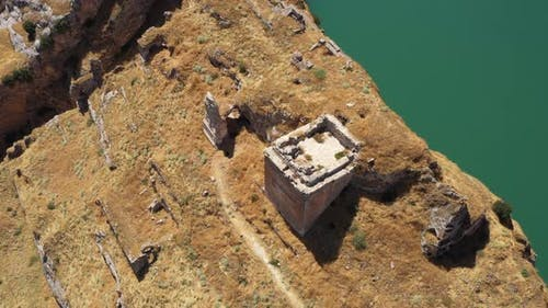 Ancient City Ruins Aerial View