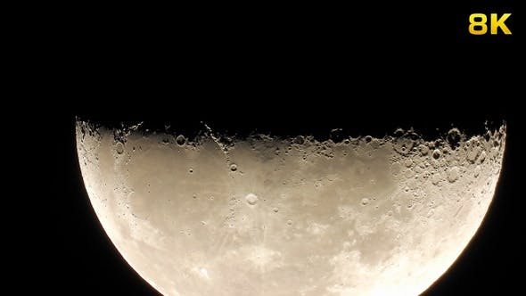 Thumbnail for Moon Craters With Megazoom Telescope