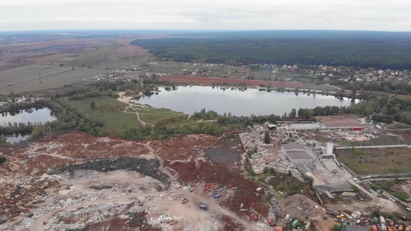 Thumbnail for Aerial view of construction waste garbage dump. Problem of environmental pollution