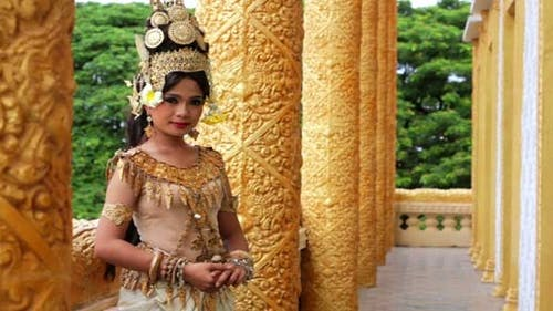 Apsara Dancer Seductive Beautiful In Asian Mythology