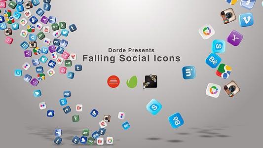 Falling Social Icons