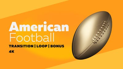 Gold American Football