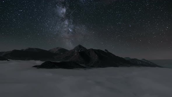 Thumbnail for Milky Way over Mountains