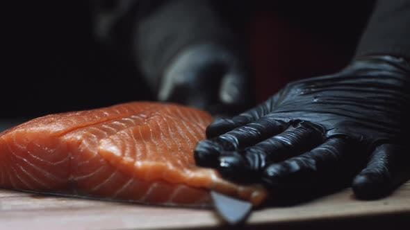 Thumbnail for Slicing Salmon Fillets