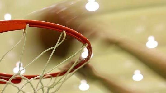 Thumbnail for Pegged To The Slam Dunk Basketball Hoop