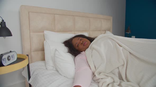 Thumbnail for Relaxed Cheerful Woman in Bed Smiling After Awake