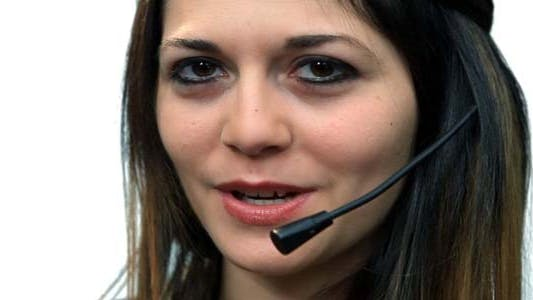 Thumbnail for Business Call Center Woman Talking
