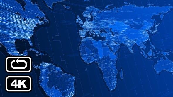 Thumbnail for News World Map Bg Loop 4k V1