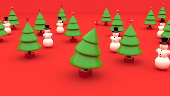 3D Christmas Tree Dancing Happy New Year Holiday Vacation Fun Merry Christmas Festive Elements Party