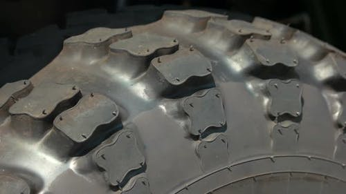 Close Up Tires of Big Vehicle