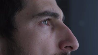 Eyes of a focused doctor
