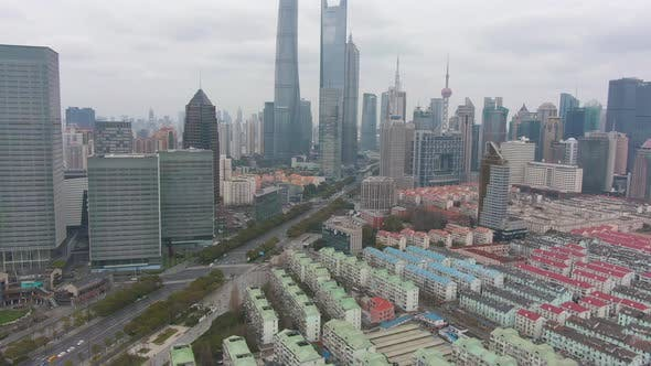 Thumbnail for Shanghai Cityscape in Cloudy Day. Lujiazui District