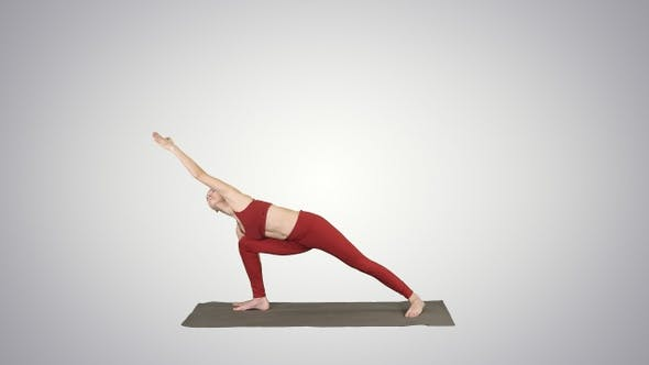 Cover Image for Young yogi attractive woman practicing yoga concept standing