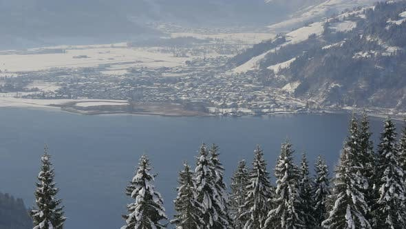 Cover Image for Zeller See at Zell am See during winter