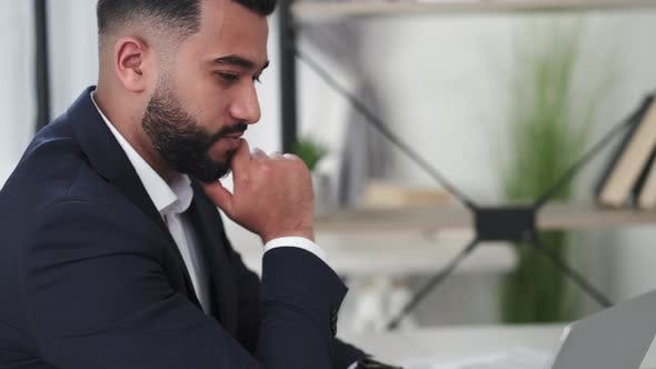 Business Communication Worried Man Work