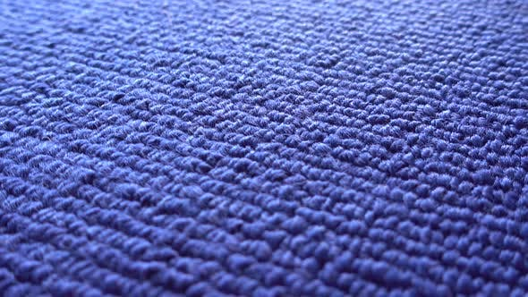 Macro Structure of Blue Towels
