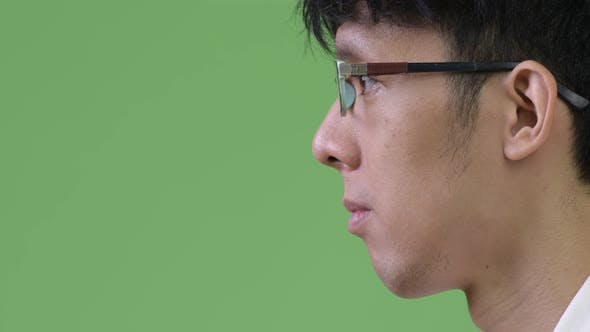 Thumbnail for Profile View of Young Asian Businessman