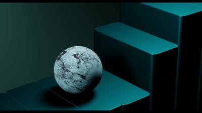 Satisfying marble ball animation
