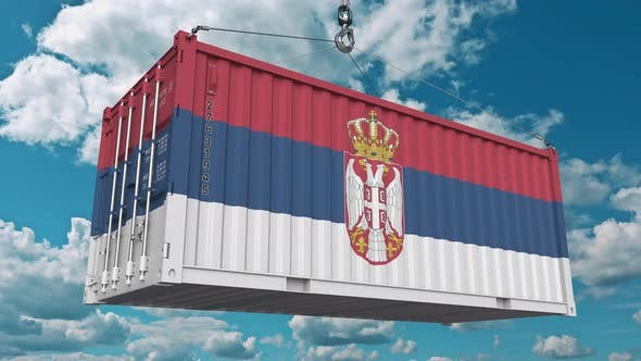 Thumbnail for Loading Container with Flag of Serbia