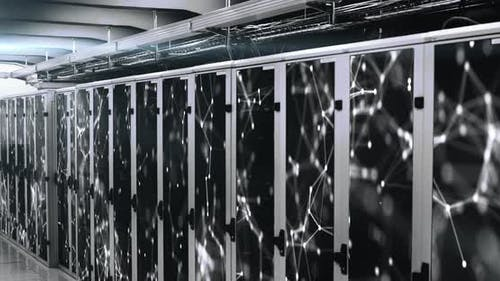 Network of connections over server room