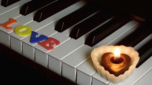 Cover Image for Love on Piano Keys and Candle Light 2