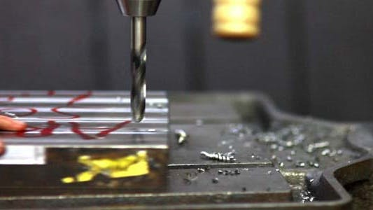 Thumbnail for Lathe Factory, Machine Working On Steel