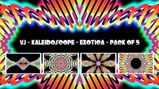 Thumbnail for VJ Kaleidoscope - Exotica - Pack of 5