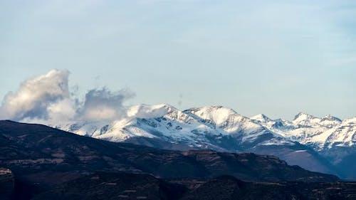 Mountains peaks scene time lapse.